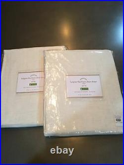Pottery barn belgian flax linen sheer curtains (2) 96 Ivory #1062