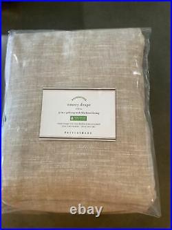 Pottery barn emery blackout curtains/drapes 100x96 oatmeal #1370