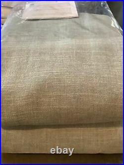 Pottery barn emery curtains/drapes blackout 100x96 blue dawn #1369