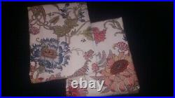 Pottery barn reagan floral curtain 96 drape S/2