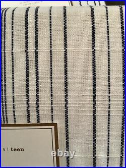 Pottery barn riley stripe blackout curtains (2) blue/white 108 #1036