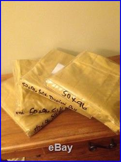 Set 4 Pottery Barn Foundations Gold Wheat Lined Silk