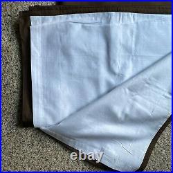 SET OF 4 POTTERY BARN Silk Dupioni ESPRESSO Brown Pole Top Drape Curtain 50 X 84