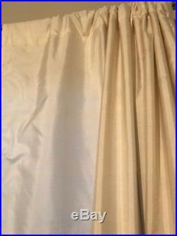 SET of 2 PBarn Dupioni Silk Drapes 50 W X 84L Ivory, very gently used, (SET/2)
