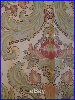 SET of 2 Pottery Barn Curtain Drapes Panels 50x84 Paisley Linen Blend Stunning