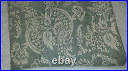 S/2 Pottery Barn ALESSANDRA Floral Blackout Drapes Curtains BLUE 50 x 96 EUC