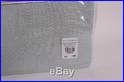 S/2 Pottery Barn Belgian Flax Linen Poletop Sheer Curtains, 50x84 porcelain blue