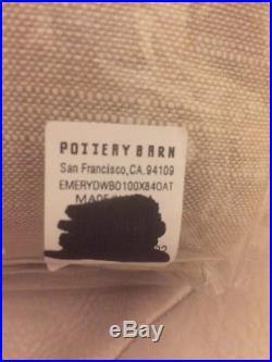 S/2 Pottery Barn EMERY DRAPE PANELS OATMEAL DOUBLE WIDTH 100x84 Blackout $498