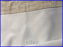 S/2 Pottery Barn Emery Linen Poletop Blackout Curtain Drapes 50 x 108 Oatmeal