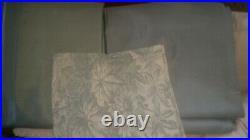 S/2 Pottery Barn Silk dupioni drape curtain blackout 84 blue dawn