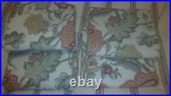 S/4 Pottery Barn Cynthia Palampore BLACKOUT Drape curtain Panels Ivory 96 / 108