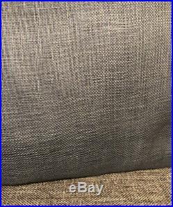 Set 2 NEW Pottery Barn Belgian Flax Linen Sheer Curtain 50x96 Blue Lagoon Pole