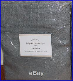 Set/2 NIP Pottery Barn Belgian Flax Linen drape panels 50x84 blue dawn