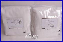Set/2 NIP Pottery Barn Seaton Textured curtain drape panels 50x108 white