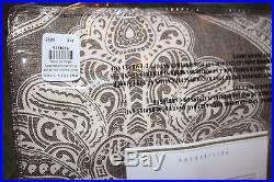 Set/2 NWT Pottery Barn Alana Medallion drape panels 50x84 brownstone brown