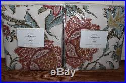 Set/2 NWT Pottery Barn Cynthia Palampore floral drape panels ivory 50x96 qty