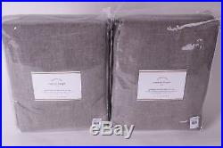 Set/2 NWT Pottery Barn Emery grommet blackout drape panels 50x108 gray