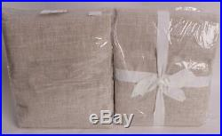Set/2 NWT Pottery Barn Emery pole top drape curtain panels 50x96, oatmeal