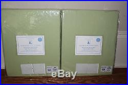 Set/2 NWT Pottery Barn Kids Sailcloth blackout drape curtain panels green 44x84