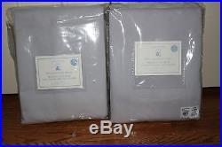 Set/2 NWT Pottery Barn Kids Twill blackout drape curtain panels gray 44x96