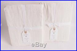 Set/2 NWT Pottery Barn PB Teen Lily Ashwell sheer curtain panels 44x84 white