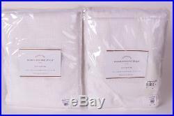 Set/2 NWT Pottery Barn Seaton Textured drape panels 50x84 white