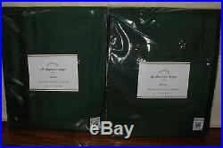 Set/2 NWT Pottery Barn Silk Dupioni drape panels 50x96 emerald green