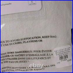 Set/2 Pottery Barn Belgian Flax Linen Rod Pocket Blackout Curtains, Ivory 100x96