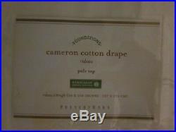 Set/2 Pottery Barn Cameron Cotton Drapes 100% Cotton 50x108 White Pole Top New