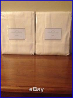 Set/2 Pottery Barn Cameron Cotton Grommet Ivory Drapes Curtains 108