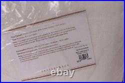Set/2 Pottery Barn Emery Linen Cotton Rod Pocket Curtains 50x108, White 6649946