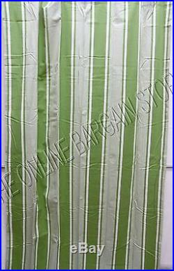 Set 2 Pottery Barn Kids Bright Stripe Dorm Curtains Panels Drapes Green 50x96