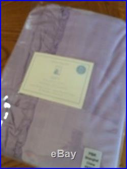 Set/2 Pottery Barn Kids Lavender Blackout Velvet Drape Curtain Panels 44 X 84