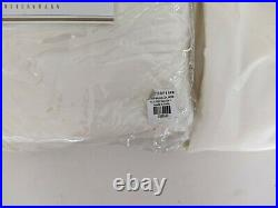 Set/2 Pottery Barn Silk Dupioni Grommet drape curtain panels 50x108, ivory