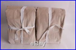 Set/2 Pottery Barn Velvet Twill Drape panels curtain 50x108 sand tan neutral