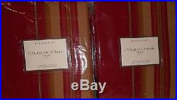 Set Of 2 Pottery Barn Harrison Striped Drapes Red 50x63 Seen On Modern Family
