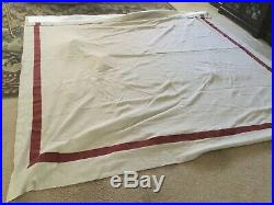 Set Of 2, Pottery Barn Linen Drapes Blackout Lining 100 X 108 FLAX With Stripe