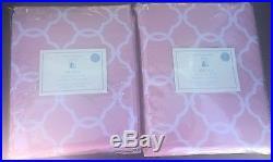Set Of (2) S/2 Pottery Barn Kids ABIGAIL Blackout Drape Panels 44 X 96 Pink