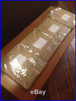 Set Of 4 Pottery Barn Straw Cameron Cotton Grommet Drapes 50 X 84 New