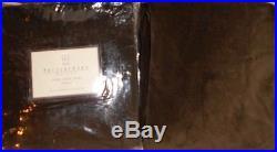 Set Of 4 Pottery Barn Velvet Cotton Drapes Panels 50''x 84'' Espresso Pole Pock