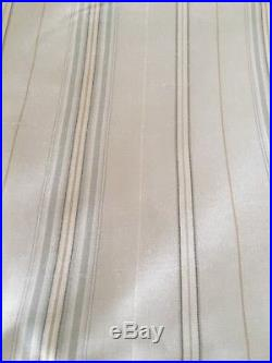 Set Of 4 pottery barn mini silk stripe drape 50x108