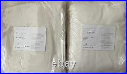 Set of (2) Pottery Barn Velvet Twill Drapes Curtains Panels 50x96 Ivory NEW