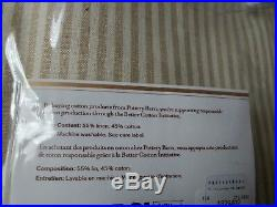 Set of 2 Pottery Barn Wheaton Stripe 84 Grommet Drapes Curtains Neutral khaki