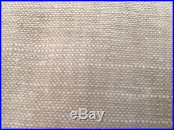 Set of (2) S/2 Pottery Barn Oatmeal Emery Grommet Drapes 50x108 NEW