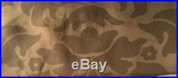 Set of 4 Pottery Barn 100% Silk 50X84 Lined Curtain/drape Panels latte/mocha