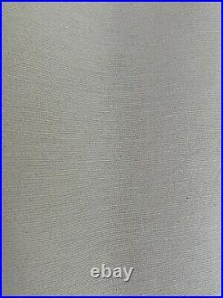 Set of 4 Pottery Barn Curtain Panels Ivory Cotton/Silk