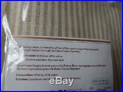 Set of 4 Pottery Barn Gray Wheaton Stripe 84 Grommet Drapes Curtains Neutral