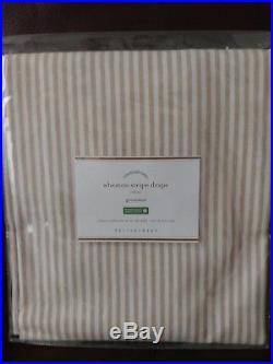 Set of 4 Pottery Barn Gray Wheaton Stripe 96 Grommet Drapes Curtains Neutral