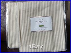 Set of 4 Pottery Barn Wheaton Stripe 84 Grommet Drapes Curtains Neutral khaki