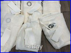Set of 6 Pottery Barn Sheer Indoor/Outdoor Grommet Curtains 50x108 Ivory